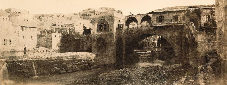 نهر ابو علي شمال لبنان عام 1859
