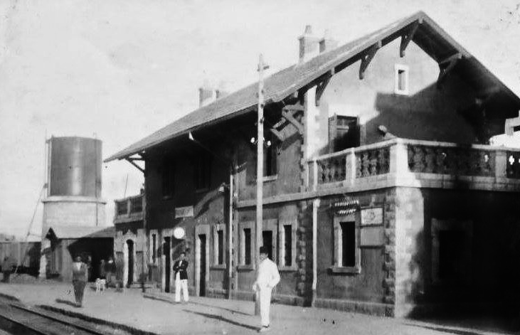 محطة القطار في رياق عام 1920