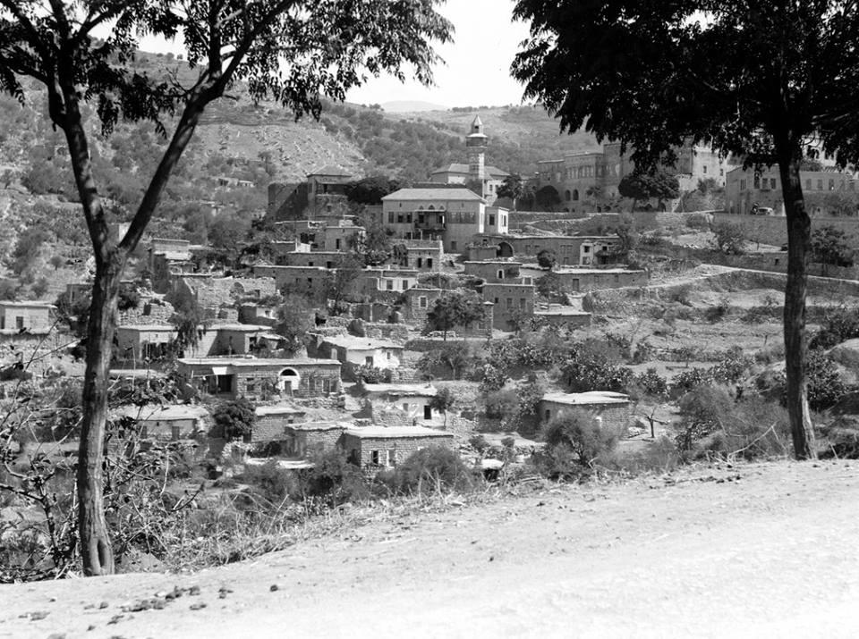 بلدة حاصبيا اللبنانية عشرينات القرن الماضي