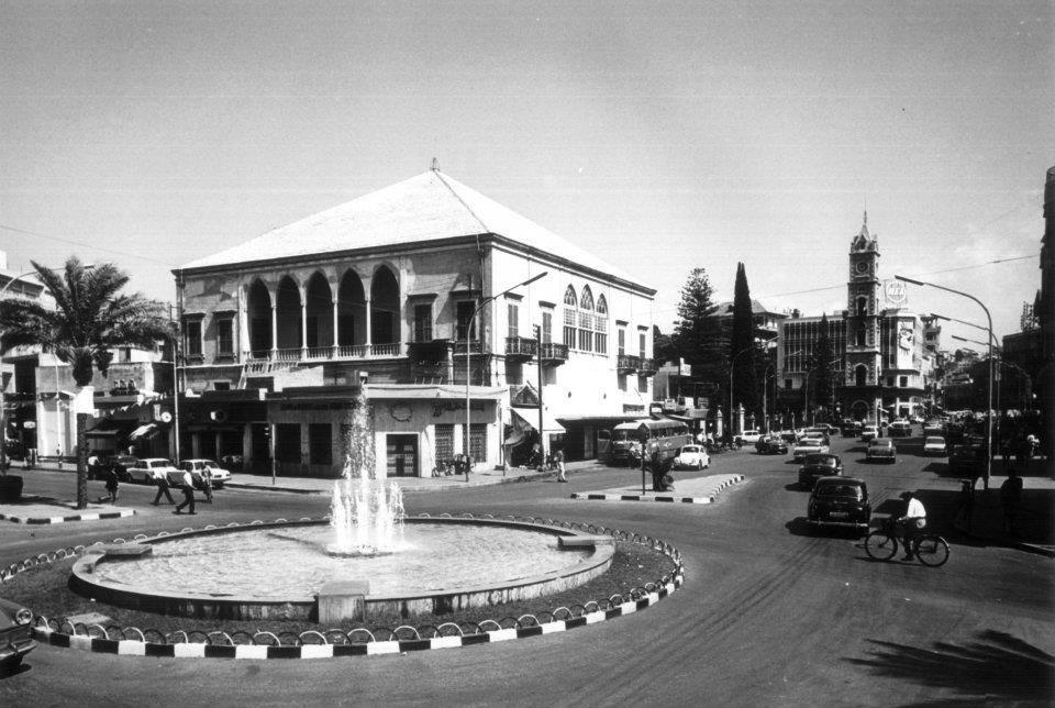 قصر نوفل و بركة الروكسي في منطقة التل - طرابلس الستينات