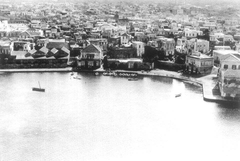 ميناء طرابلس في الثلاثينيات.